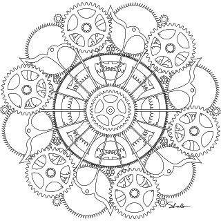 steampunk mandala tattoo | Dont Eat the Paste: Gear and cogs mandala