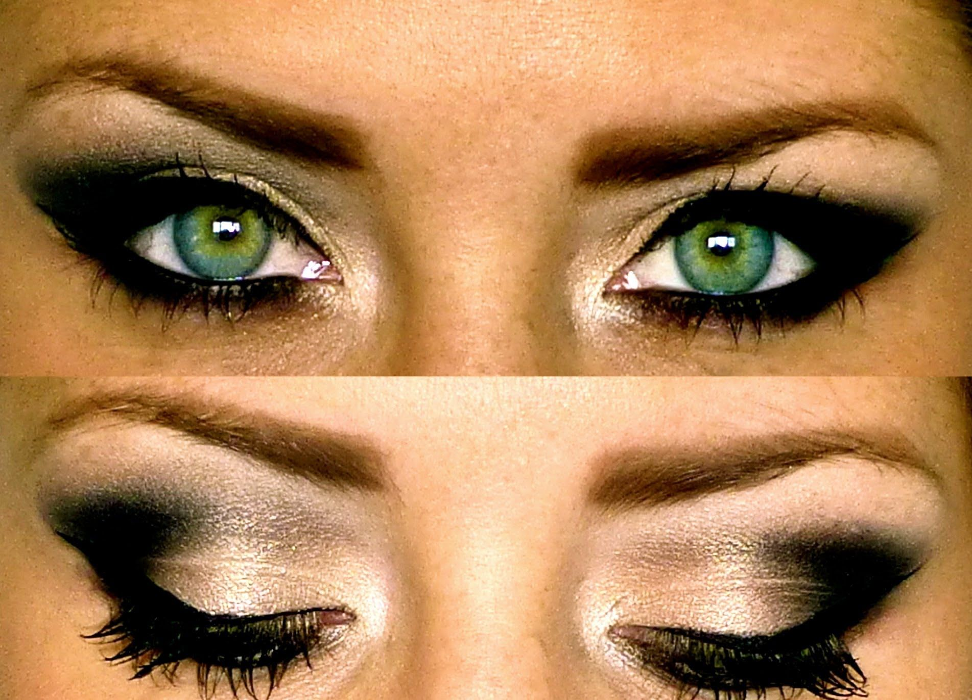 black smokey eye makeup tutorial | halloween | eye makeup
