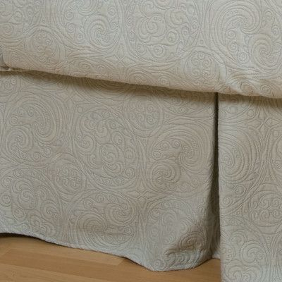 Charister Bliss Bed Skirt Fabric: Ice Blue, Size: Queen