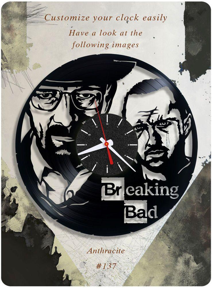 Breaking Bad Vinyl Record Clock Jesse Pinkman Vinyl Wall Clock - Vinylboden nassraum