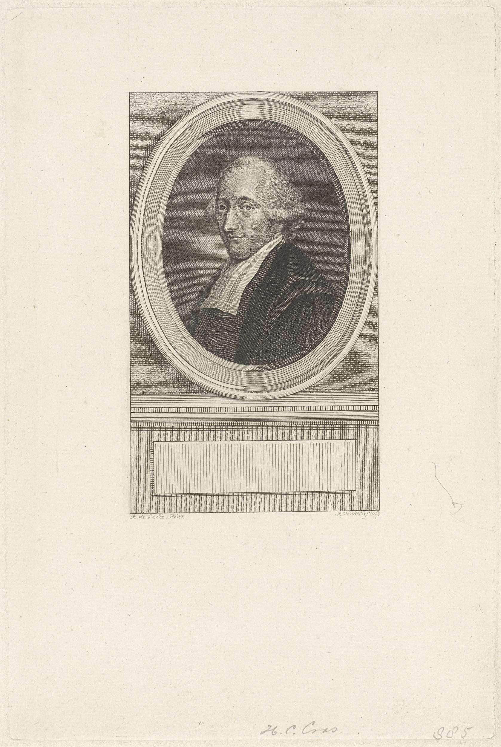 Reinier Vinkeles   Portret van de rechtsgeleerde Hendrik Constantijn Cras, Reinier Vinkeles, 1786 - 1809  
