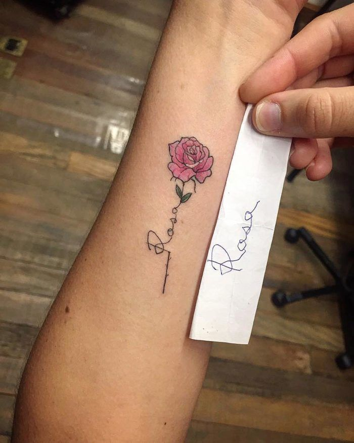 Little Rose Tattoo Million Feed Little Rose Tattoos Rose Tattoo Forearm Rose Tattoo With Name