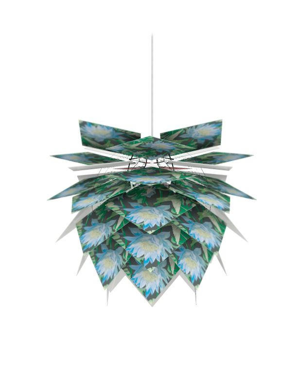 Create-Your-Own Pendant Light by Dyberg Larsen. Use old photographs, magazine pages, cereal boxes...whatever you fancy to create a unique pendant light full of personality.