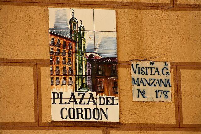 Azulejo Plaza Cordn Madrid  Azulejos de calles de