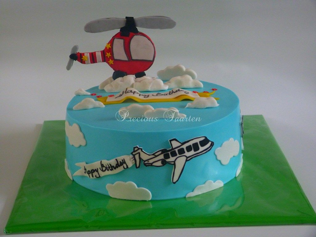 airplane and helicopter cake kids cake pinterest helicopter