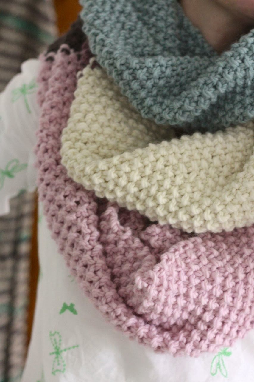 ❤ \'around the block cowl\' - cherry heart boutique - free knitting ...