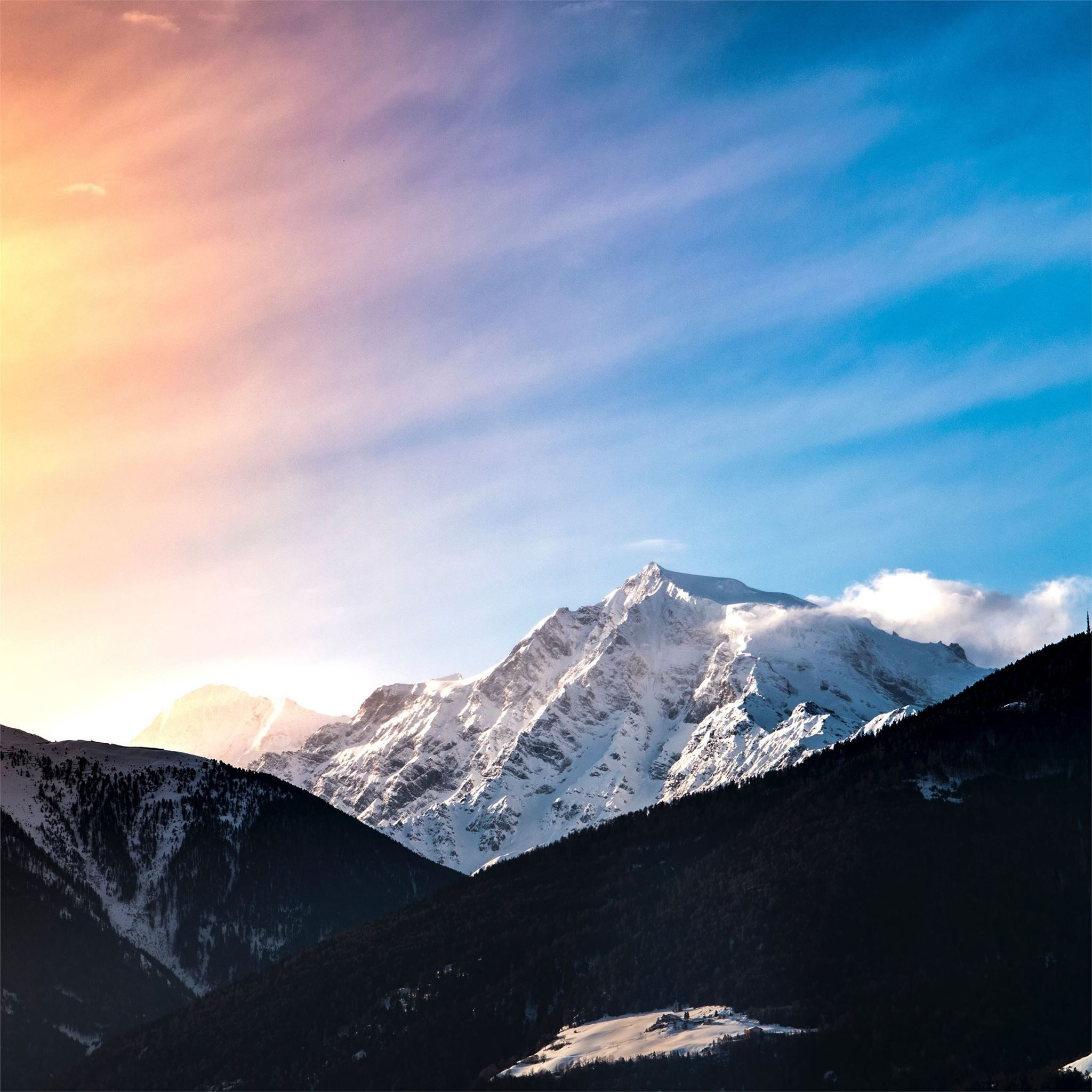 Snow Covered Mountain 5k Snow Mountains Nature 4k 5k Hd Nature Wallpapers Ipad Air Wallpaper Nature Wallpaper
