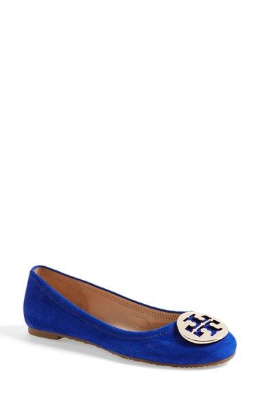 20ded7acf Free shipping and returns on Tory Burch  Reva  Ballerina Flat (Women) at  Nordstrom.com. A signature goldtone logo medallion tops the rounded toe of  a ...