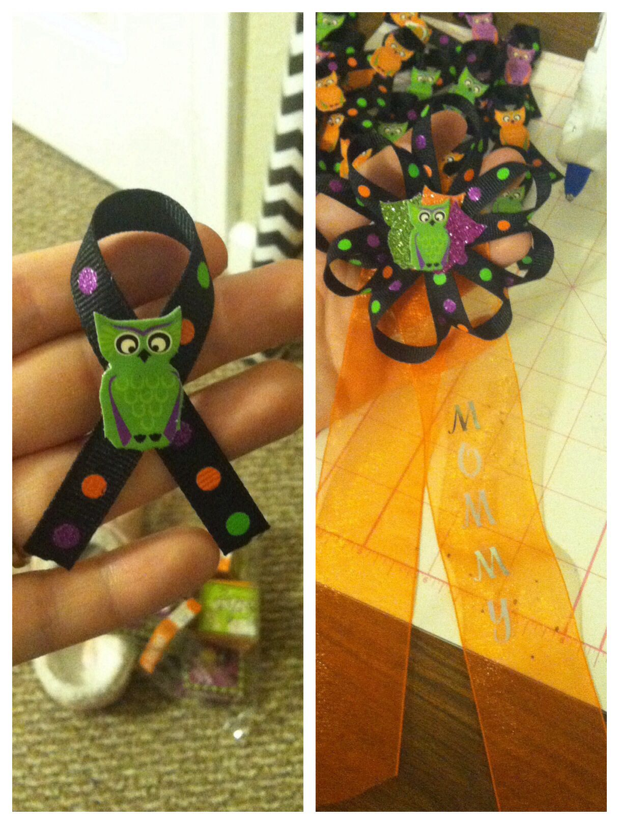 Halloween themed baby shower pins