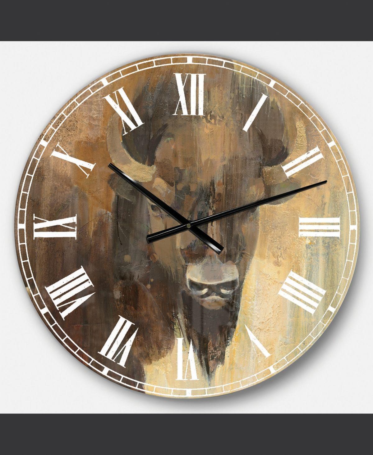 Designart Modern Farmhouse Oversized Metal Wall Clock Reviews Clocks Home Decor Macy S Metal Wall Clock Wall Clock Clock