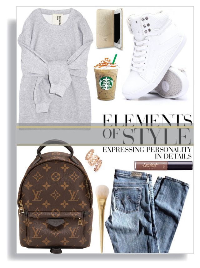 """""""Easy breezy"""" by thestrawberryfields ❤ liked on Polyvore featuring AG Adriano Goldschmied, Louis Vuitton, Vera Wang, Folio, tarte, Tory Burch and casualoutfit"""