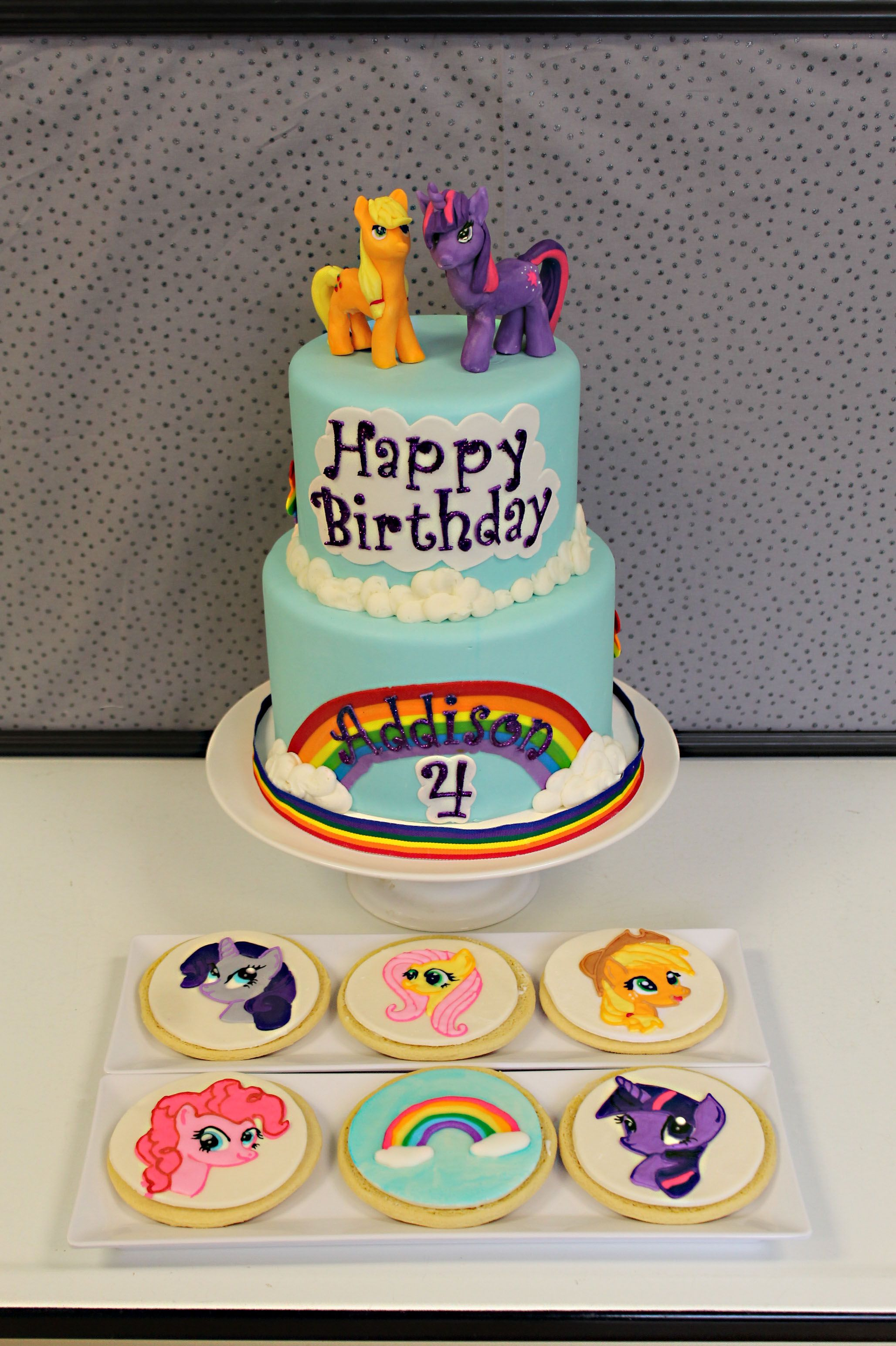 My Little Pony Cake With Matching Cookies