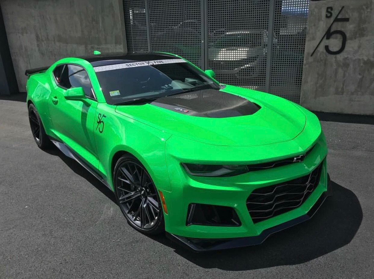 Chevrolet Camaro Zl1 Painted In Krypton Green Photo Taken By