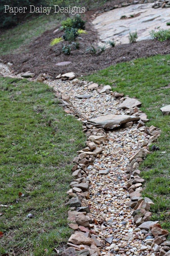 A Dry Creek Bed For Beauty And Drainage Deeplysouthernhome Dry Riverbed Landscaping Landscaping With Rocks Dry River