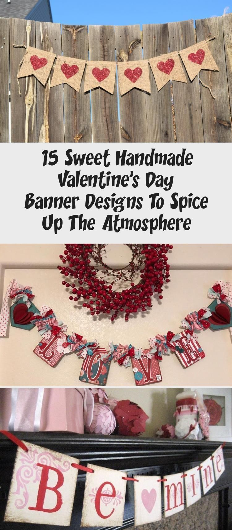 15 Sweet Handmade Valentines Day Banner Designs To Spice Up The Atmosphere bannerPublicidad banner 15 Sweet Handmade Valentines Day Banner Designs To Spice Up The Atmosph...