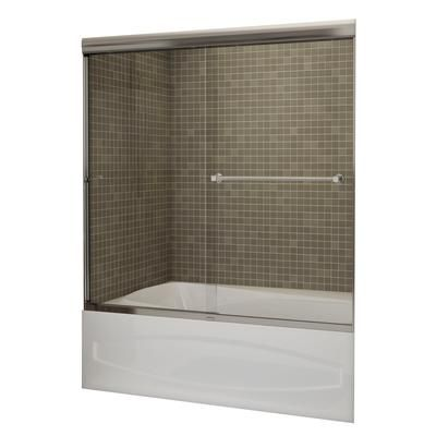 MAAX - Noble Tub Door 60 Inch Clear Glass - Chrome, 8 mm, Soft Close ...