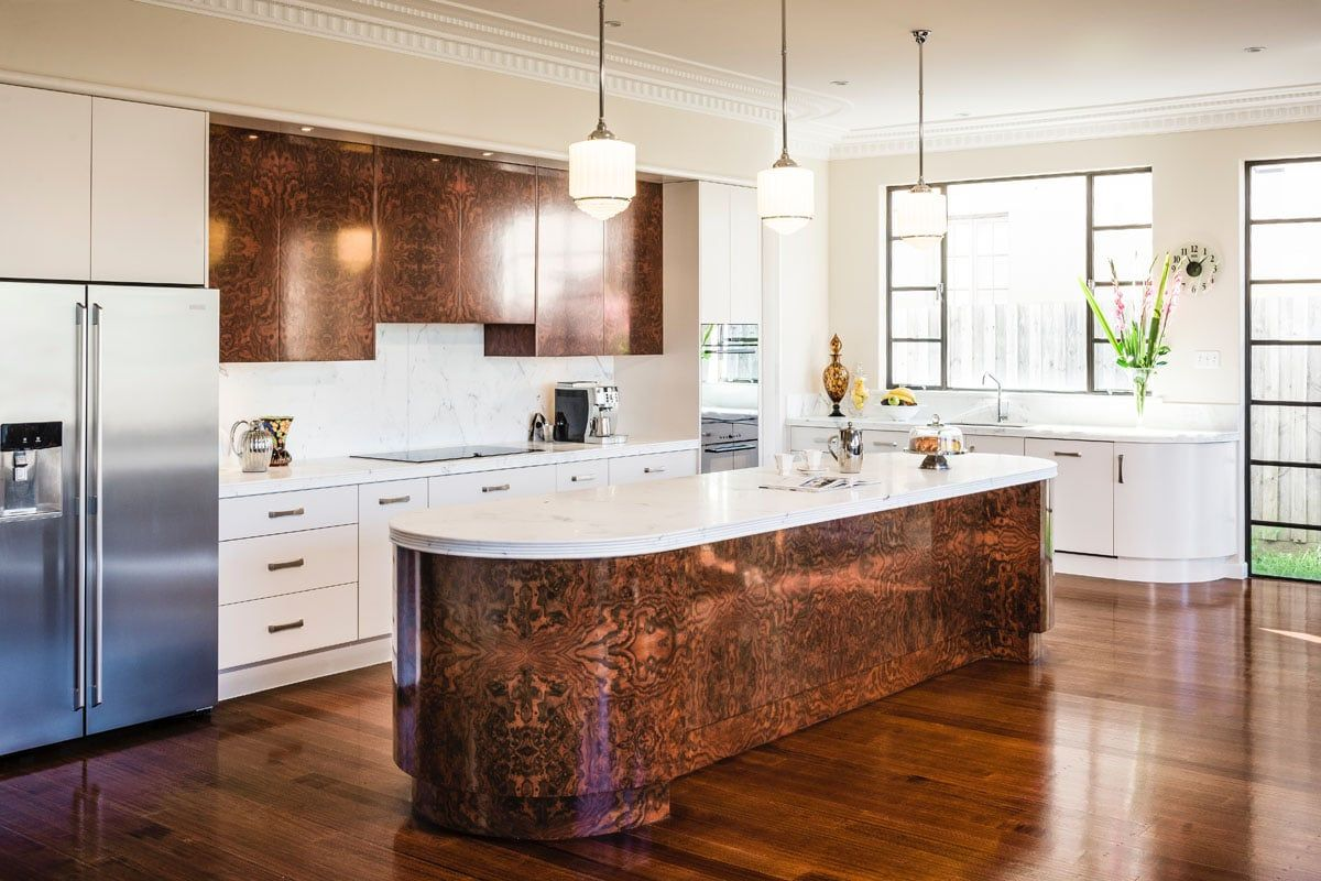 Walnut Project | Art deco kitchen cabinet, Art deco ...