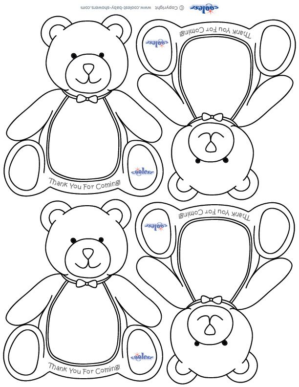 Printable Teddy Bear Thank You Cards Coolest Free