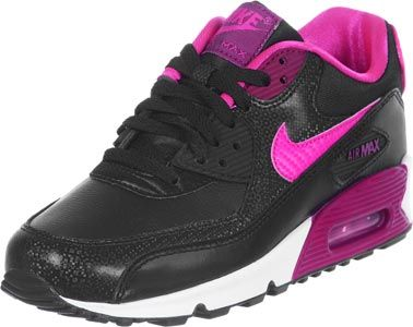 huge selection of 91866 32a9e Nike Air Max 90 Youth GS Schuhe schwarz pink