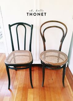 I adore these Thonet chairs, remind me so much of my grandmothers home how to say thonet / sfgirlbybay