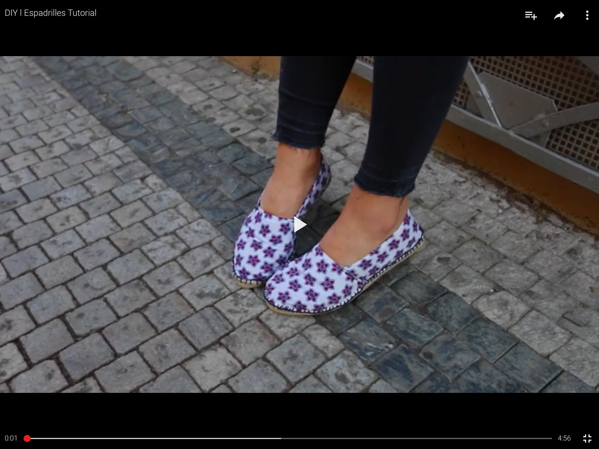 Tutorial Espadrilles deutsch https://youtu.be/Y_Y4OaCJQFM