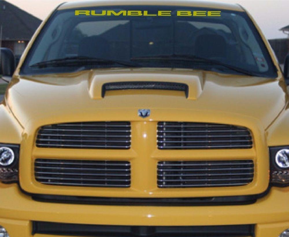 DODGE RUMBLE BEE WINDSHIELD DECAL | eBay Motors, Parts & Accessorie