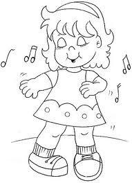 Niña Bailando Apliques Niños Bailando Dibujos Y Dibujos Para Niños