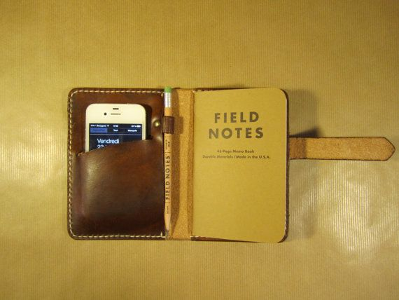 Field Note Wallet Cover Leather By Oakcreationcuir On Etsy For