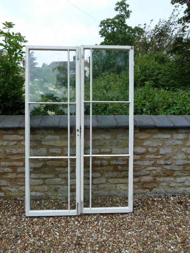 Preloved | beautiful pair of vintage/antique painted french windows ...
