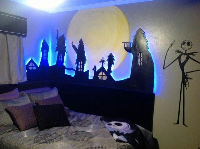Tim Burton Inspired Bedroom Christmas Decorations Bedroom Nightmare Before Christmas Decorations Christmas Bedroom