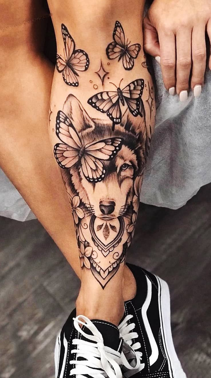Tatuagens femininas Grandes na Perna