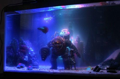 Amazing Bioshock Tank Decorations Geek Living Fish Tank