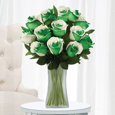 12 Stems with Frosted Vase
