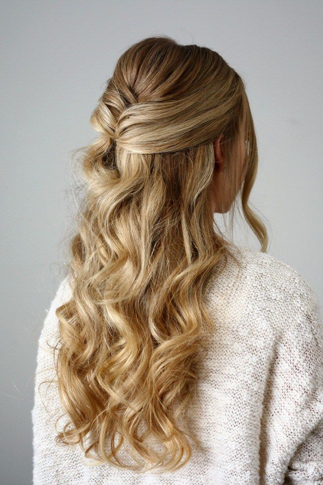 3 Holiday Hairstyles Missy Sue Half Updo Hairstyles Holiday Hairstyles Holiday Party Hair
