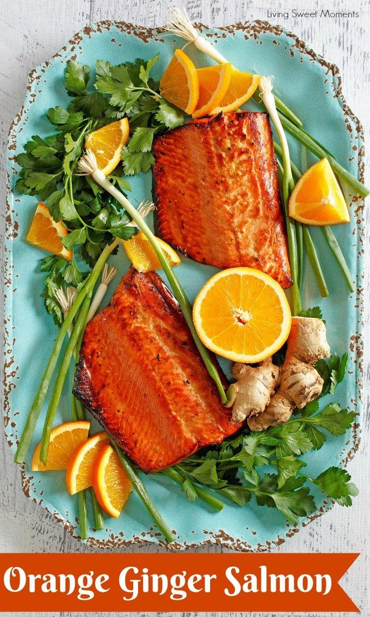 Delicious Orange Ginger Glazed Salmon Recipe