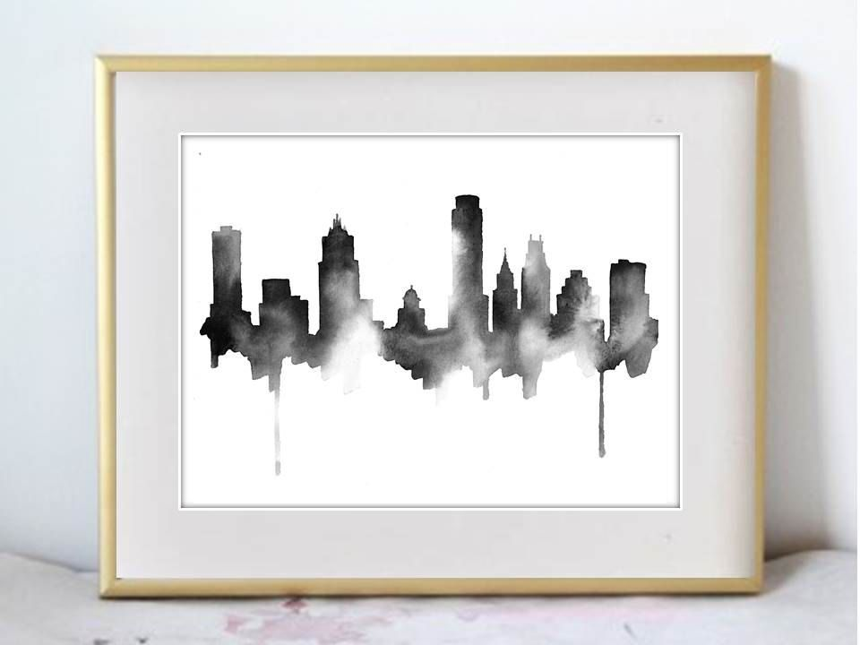 Bildergebnis für poster austin minimalist black and white | Ilustras ...