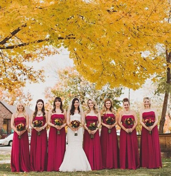 12 stunning combinations for color schemes for fall weddings - Fall Colors For A Wedding