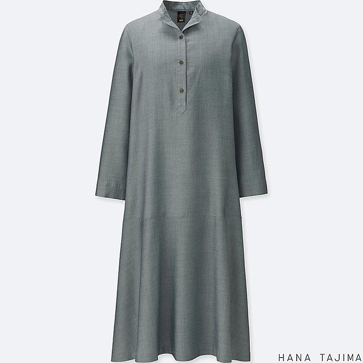337f74b92e1 WOMEN HANA TAJIMA TENCEL LONG SLEEVE SHIRT DRESS £39.90