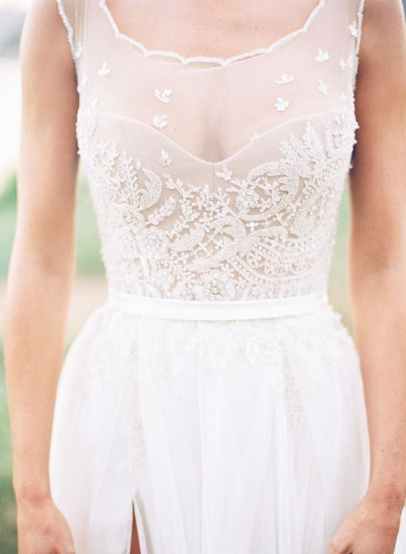 GORGEOUS Sheer Details On This Wedding Dress