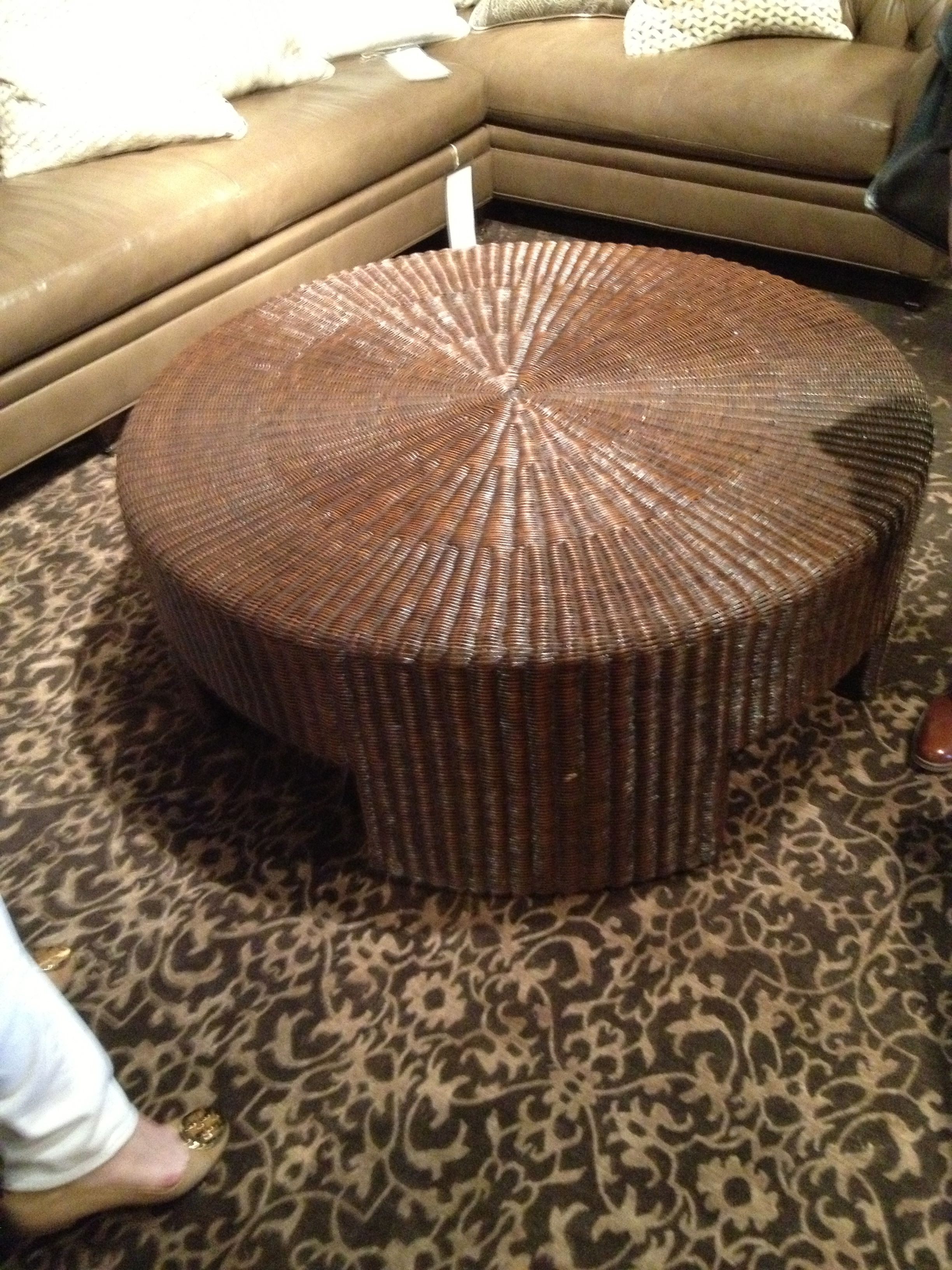 Hickory Chair woven coffee table GM PALM BEACH