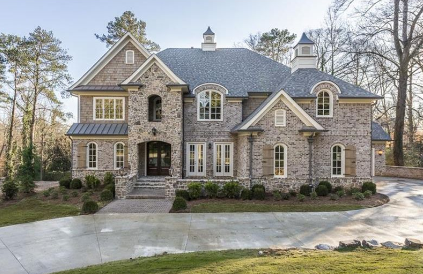 2 6 million newly built brick stone mansion in atlanta for Dream homes in atlanta