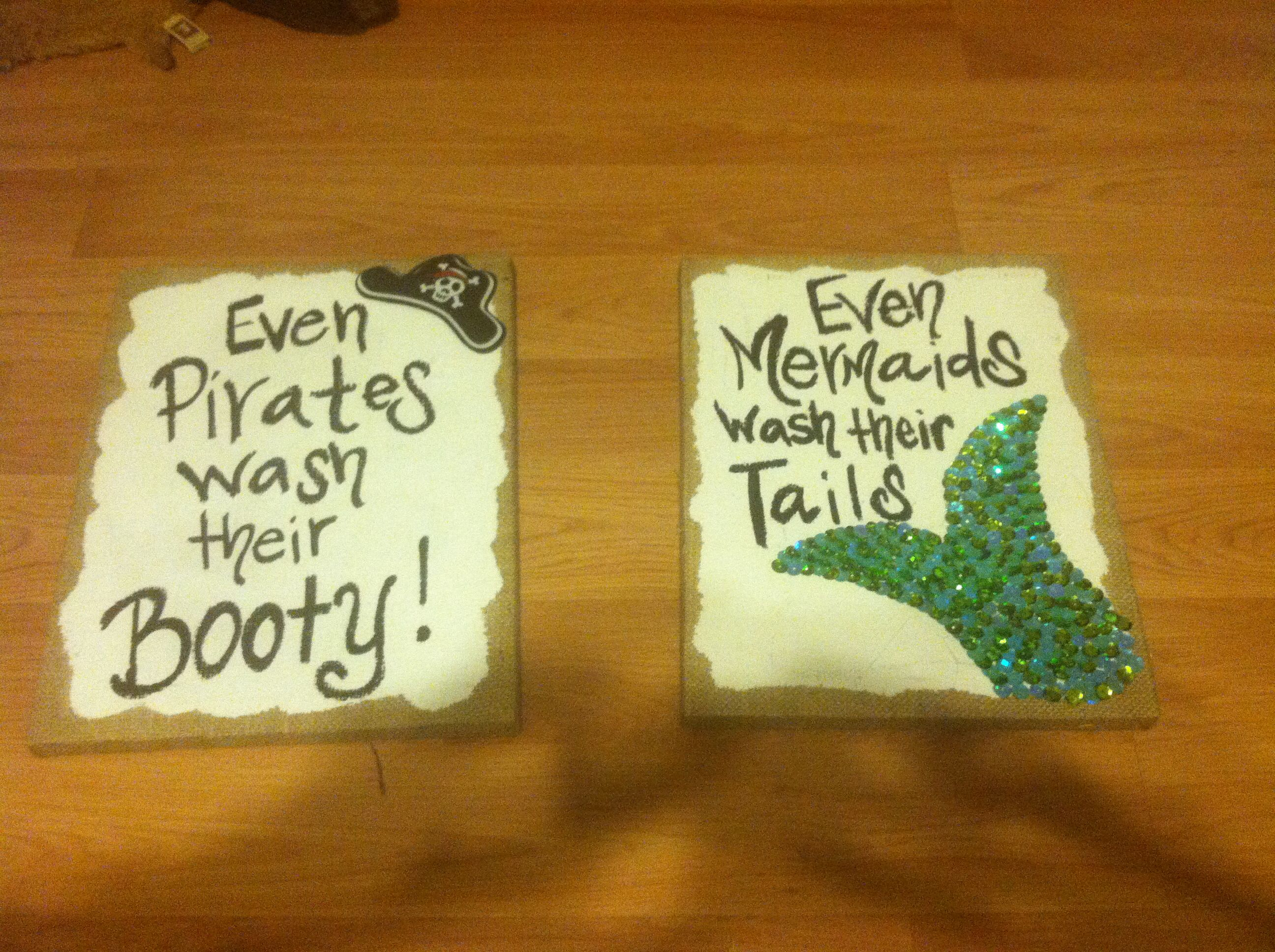 Pirate and mermaid bathroom decor!   For the Home   Pinterest ...