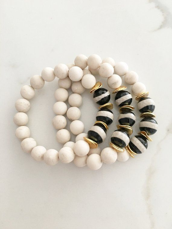 Natural Gemstone Beaded Bracelets  Stack Bracelet  Stackable Bracelet  Bead Bracelets  Arm Stacks   Boho Jewelry  Bohemian Jewelry