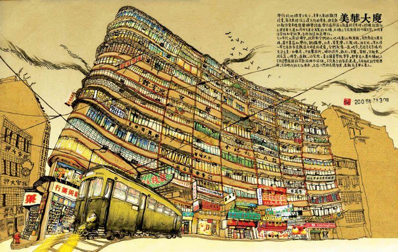 Recording Old Hong Kong Through Illustration Stella So Hong Kong Art Architecture Illustration Architecture Sketch