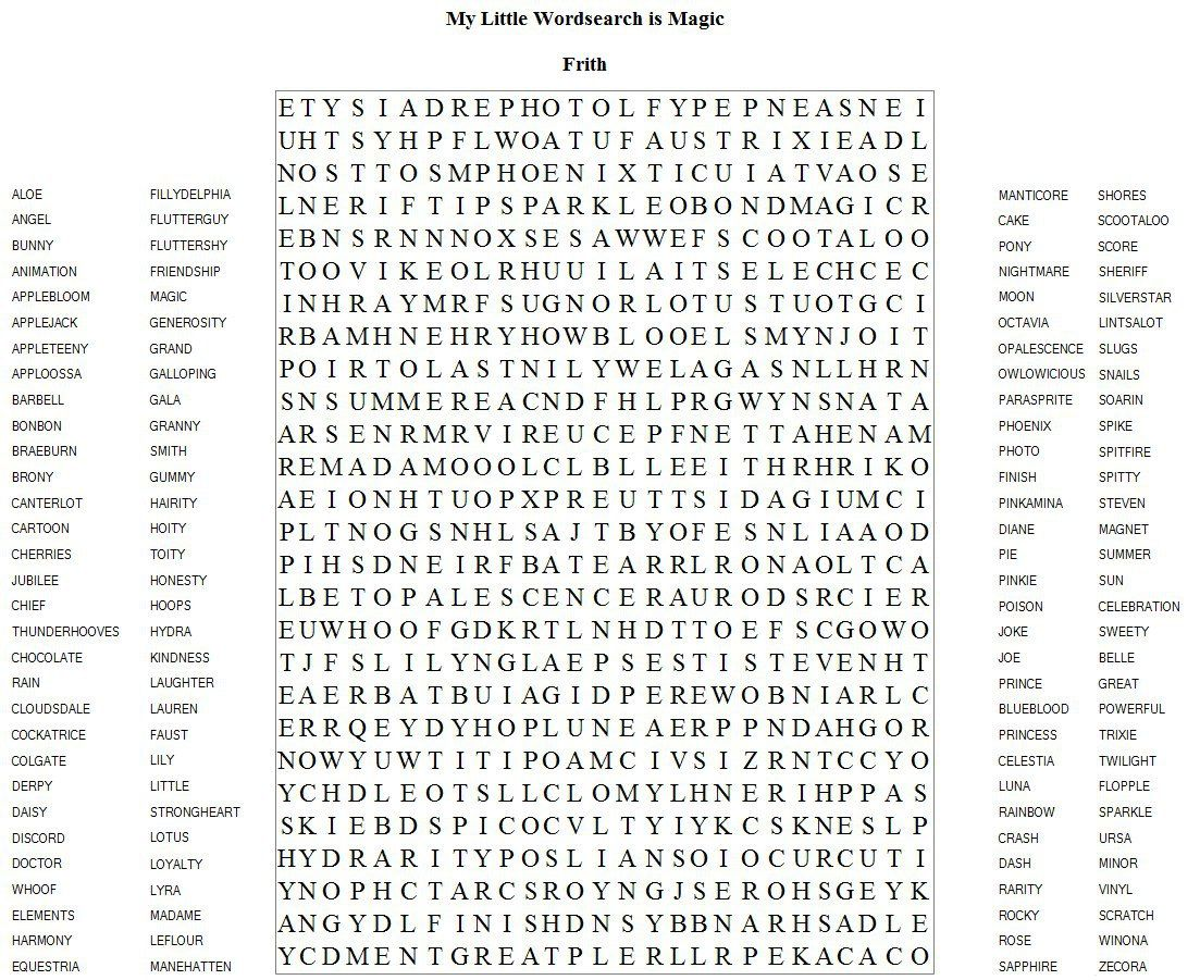 Daily Word Search Puzzle Frith Has Brought Us Another Puzzle For You All To Complete Now Go Do