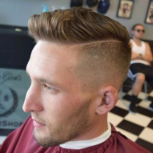 Undercut Fade with Hard Side Part Menshairstyles