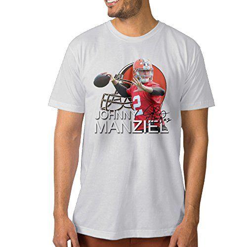Show Time Mens Johnny Manziel #2 Short Sleeve Vintage Tshirt White XXL