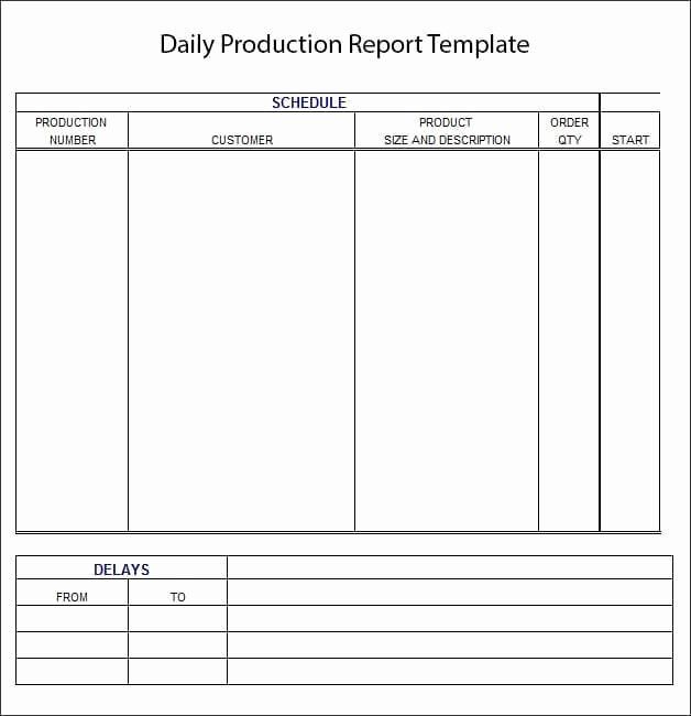 Daily Production Report Template Excel Beautiful 10 Daily ...