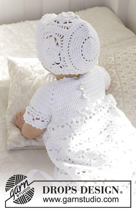 Ensemble: Robe de baptême ou pour grandes occasions, crochetée de ...