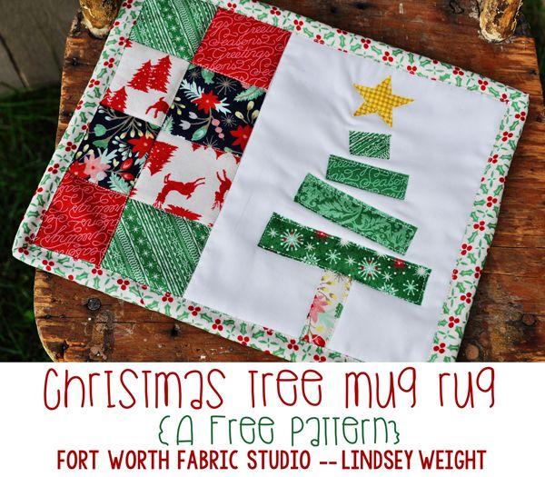 Christmas Tree Mug Rug Free Pattern